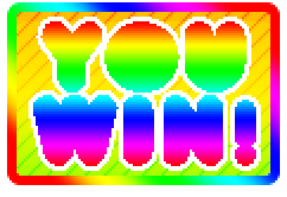 Colorful You Win Button